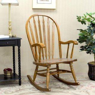 Carolina Cottage 1180 OAK Windsor Rocking Chair in Oak