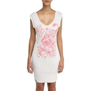 55DSL Robe Femme Blanc, rose.   Achat / Vente ROBE 55DSL Robe Femme