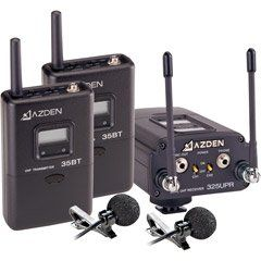 AZDEN 325ULT UHF Wireless Combo Microphone System , Two