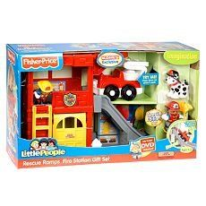 Fisher Price Little People Rescue Ramps Fire Station with