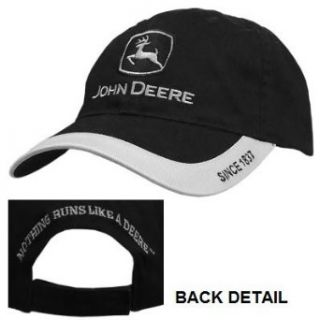 John Deere Black and Silver Trademark Hat: Clothing