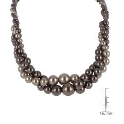 Roman Brown Faux Pearl Twist Necklace