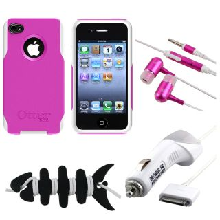 Otter Box Case/ MYBAT Car Charger/ Headset/ Wrap for Apple iPhone 4