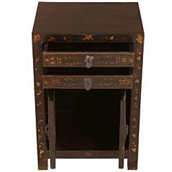 Antique style Black and Gold End Table (China)