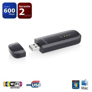 Belkin Adaptateur USB sans fil bi bande PLAY N600   Achat / Vente CLE