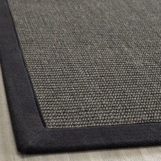Hand woven Natural Fiber Serenity Charcoal Sisal Rug (3 x 5