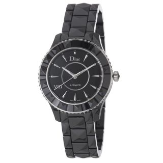Christian Dior Womens Black Eight Black Dial Ceramic Watch