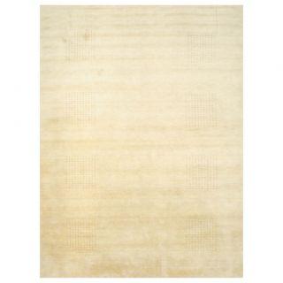 Indo Hand knotted Tibetan Beige/ Brown Wool Rug (9 x 12)