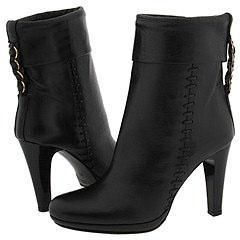 Charles David Shutter Black Leather Boots