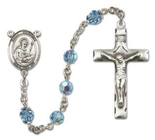 Sterling Silver Saint Benedict Rosary Jewelry