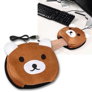 Brown Bear USB Hand Warmer Mouse Pad