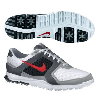 Nike Mens Air Range WP White/ Red/ Grey Golf Shoes (Blem)