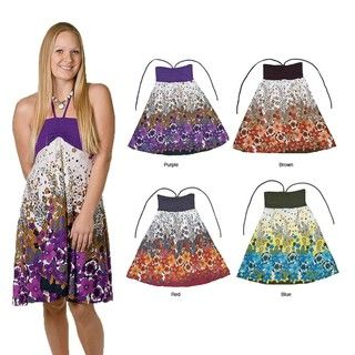 Womens Halter Floral Dress/ Skirt Combo (Thailand)
