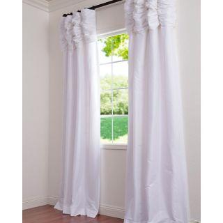 Ruched Header Faux Silk Taffeta 120 inch Curtain Panel