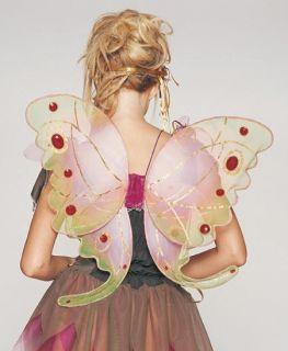 Pink Jeweled Organza Garden Fairy Wings