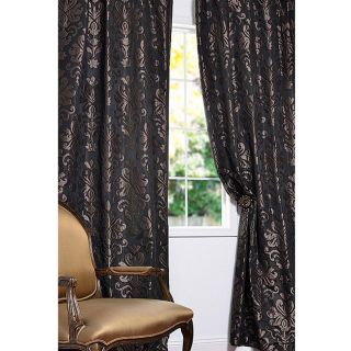 Patterned Faux Silk Jacquard 120 inch Curtain Panel