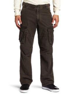 IZOD Mens Hanover Cargo Chino Pant, Deep Brown, 38x32