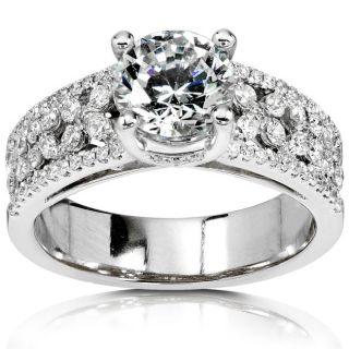 18k Gold 1 1/2ct TDW Diamond Engagement Ring (I J, SI)