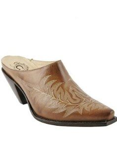 Charlie 1 Horse Slide Mayela Stitch Caramel #I6221 Shoes
