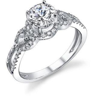 18k White Gold 1 2/5ct TDW Diamond Engagement Ring (H I, SI1 SI2