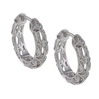 Tacori IV Sterling Silver Cubic Zirconia Crescent Earrings