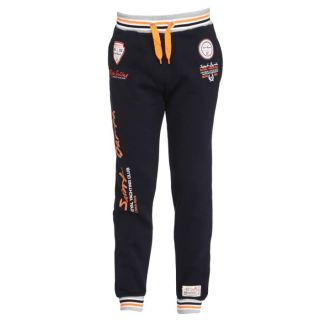 GEOGRAPHICAL NORWAY Jogging Homme Marine, blanc, orange et gris