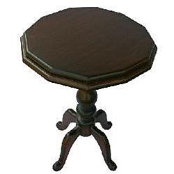 Hand carved Walnut Teak Wood Accent Table (Thailand)