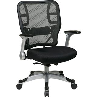 Office Star Deluxe R2 SpaceGrid Back Chair with Mesh Seat and Flip