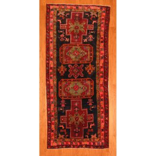 Persian Hand knotted Navy/ Red Hamadan Wool Rug (49 x 108) Was $549