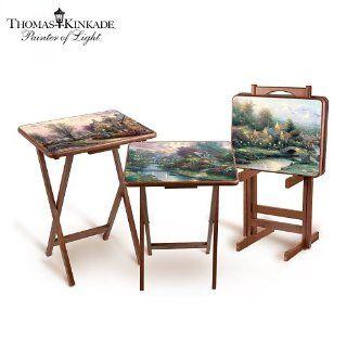 Thomas Kinkade Artistic Wooden Tray Tables by The Bradford