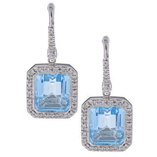 Encore by Le Vian 14k Gold Blue Topaz and 2/5ct TDW Diamond Earrings