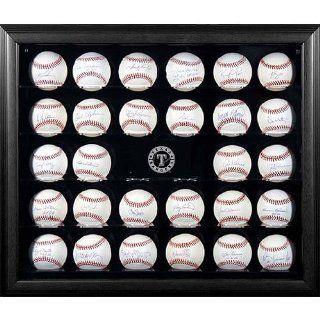 Mounted Memories Texas Rangers 30 Ball Mahogany Baseball