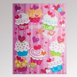 Valentines Day Cupcake Clings Toys & Games