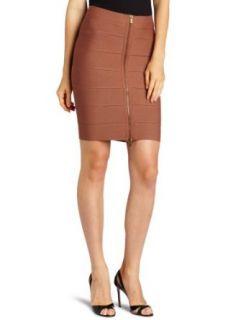 BCBGMAXAZRIA Womens Josey Zipper Front Skirt Clothing