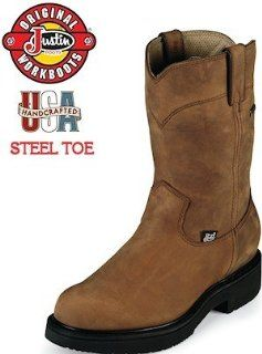 Justin Workboot Gore Tex 10 Pull On 6605 Shoes