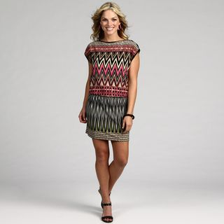 London Times Womens Multi Color Abstract Dress
