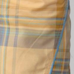 Island Joe Mens Yellow Plaid Print Swim Shorts
