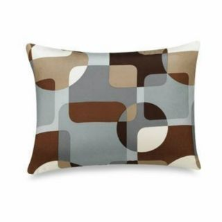 Parker Silk Geometric Taupe Decorative Pillow