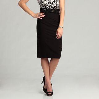 Calvin Klein Womens Black Belted Skirt