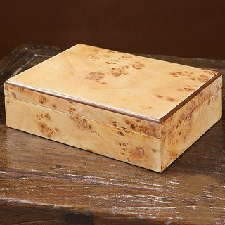 Christopher Knight Home Natural Burl Wood Jewelry Box