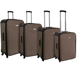 Kemyer Destinations Hipack Brown 4 piece Expandable Spinner Luggage