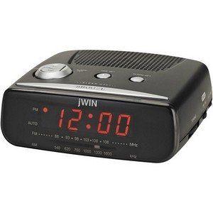 jWIN JL206BLK Digital Alarm Clock with AM/FM Radio