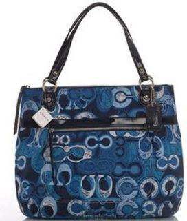 Coach Limited Edition Poppy Glam Shopper Bag Purse Tote
