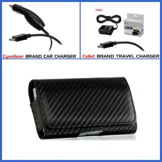 Samsung Solstice II A817 Carbon Fiber Style Case with Car and Travel