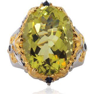 Michael Valitutti Silver/ Palladium/ 18k Vermeil Ouro Verde Ring