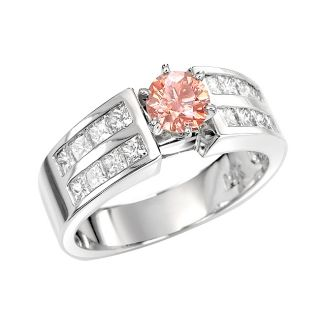 14k White Gold 1 1/2ct TDW Pink and White Diamond Ring (G, SI2