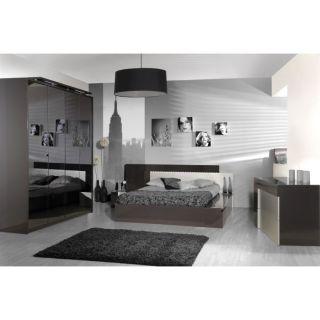 GREY Chambre complète Lit 140, 2 chevets + armoire   Achat / Vente