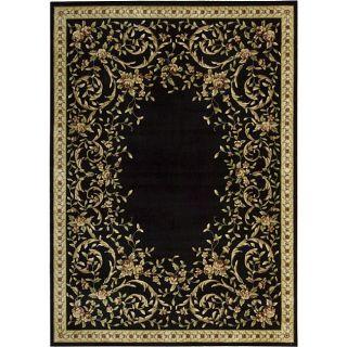 PNY3 Black Floral Rug (96 x 136)
