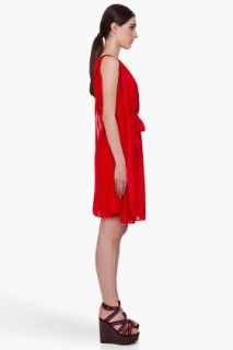 Marc By Marc Jacobs Red Lucinda Jersey Dress for women