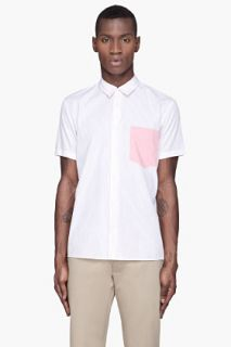 Marc Jacobs Pink Pinstripe Poplin Shirt for men
